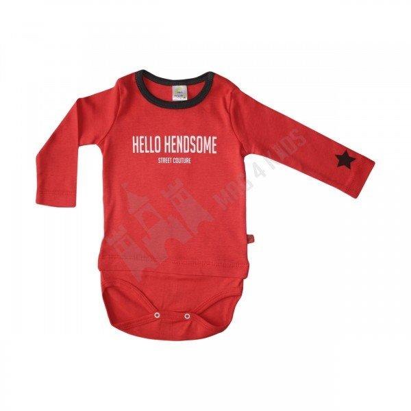 """Боди блуза """"hello"""" червено 68-98"""