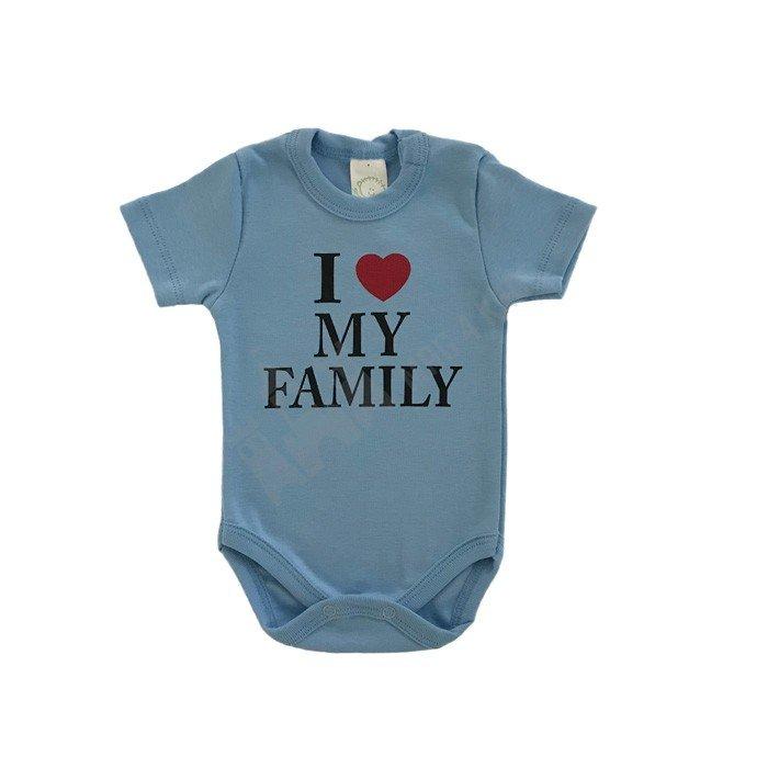 """Боди """"I love my family"""" 62-86"""