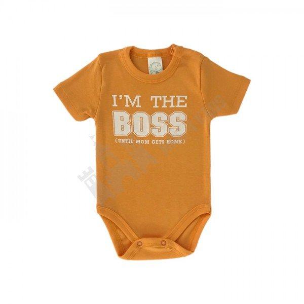 """Боди """"I'm the boss"""" оранжево 62-86 оранжево"""