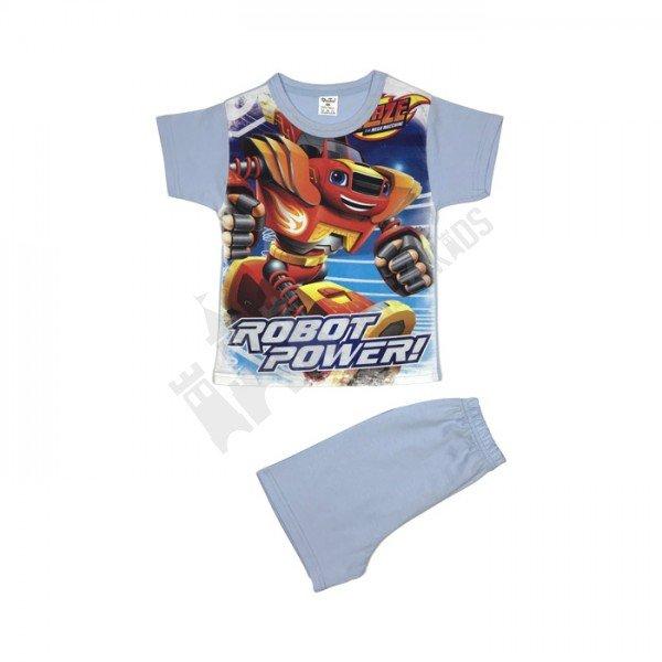 "Пижама къс ръкав ""Robot power"" 98-116"