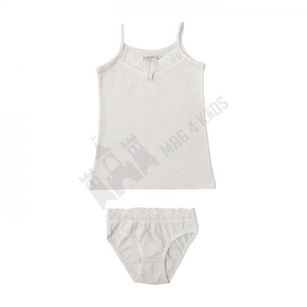 Комплект тънка презрамка и бикина с дантела 158-170