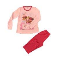 Пижама с дълъг ръкав момиче сингъл 92-104