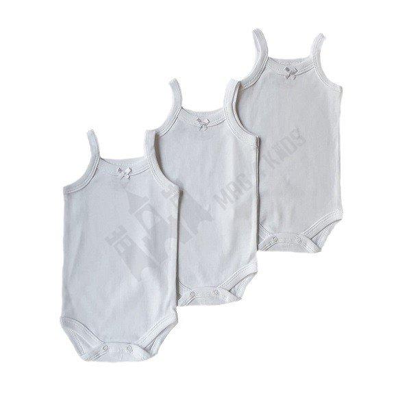 Бебе Боди ТП рипс бял 80-98